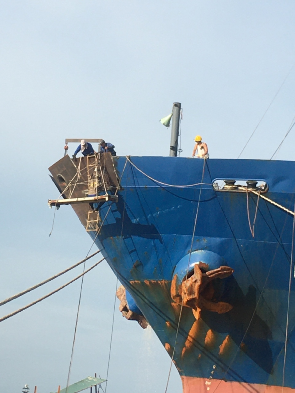 Steel repair in Hai Phong Port- Vietnam